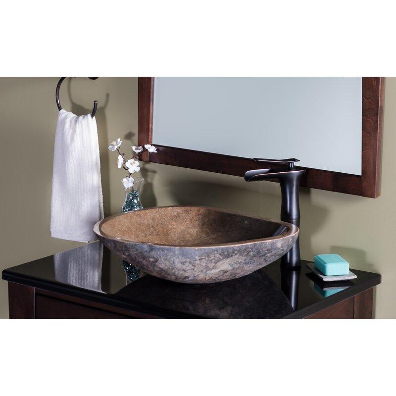 Novatto Terra Stone Specialty Vessel Bathroom Sink Wayfair