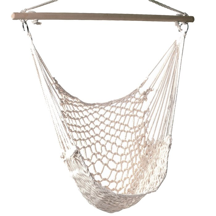 Medium image of parker woven cotton chair hammock