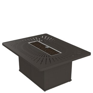 Tropitone La'Stratta Aluminum Propane Gas Fire Pit Table