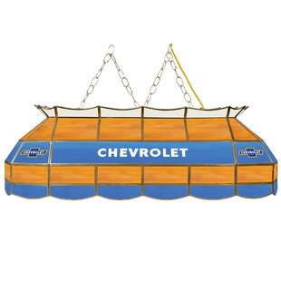 Chevy Super Service Stained Glass 3-Light Pool Table Light by Trademark Global