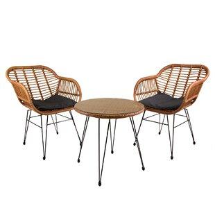 Jormundagand 2 Seater Rattan Conversation Set Image