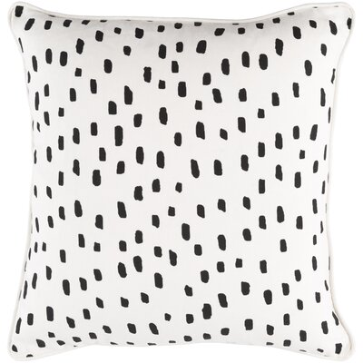 Ivy Bronx Yahya Contemporary Cotton Throw Pillow Color: White/ Black