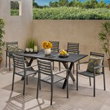 Anemone Outdoor 7 Piece Dining Set