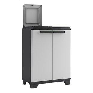 Acquaviva Split 20 Gallon Touch Top Multi-Compartments Trash and Recycling Bin