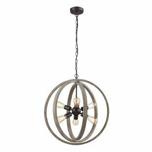 Gracie Oaks Adalwine Modern Rustic 6-Light Globe Pendant