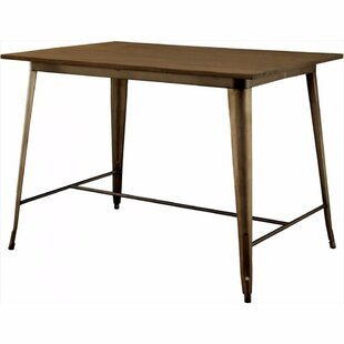 Moris Counter Height Solid Wood Dining Table Williston Forge