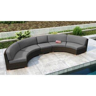 Everly Quinn Glen Ellyn 3 Piece Sectional Set with Sunbrella Cushion