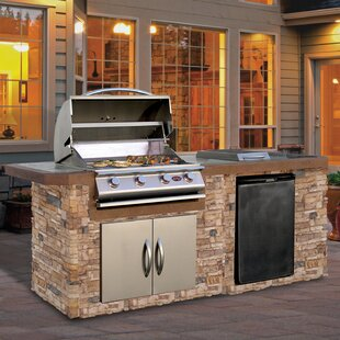Outdoor Kitchen Island   Grill Included Outdoor Kitchen Islands You Ll Love Wayfair