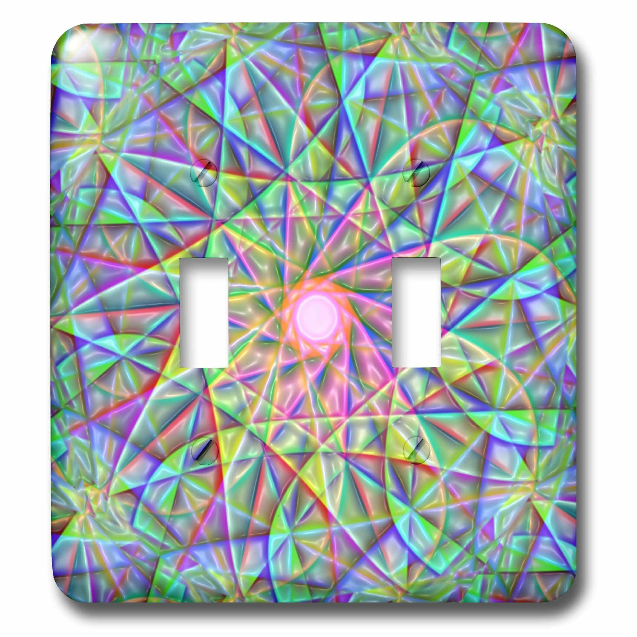 3drose Digital Abstract 2 Gang Toggle Light Switch Wall Plate Wayfair