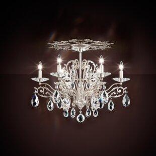 Schonbek chandeliers youll love wayfair filigrae 6 light semi flush mount by schonbek aloadofball Choice Image