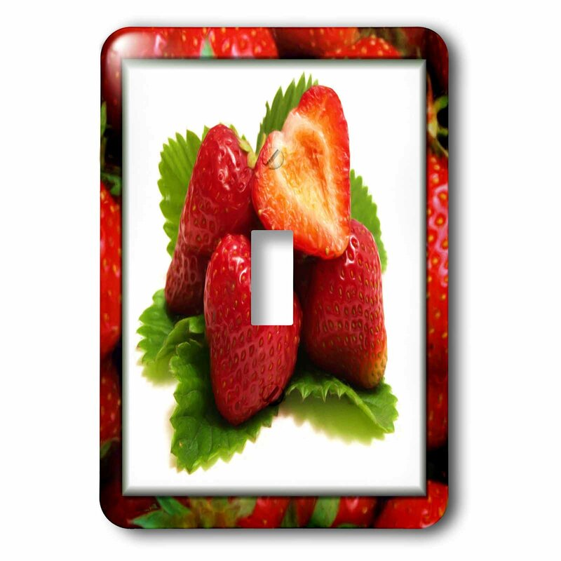 3drose Strawberries On Strawberries 1 Gang Toggle Light Switch Wall Plate Wayfair