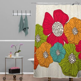 Deepak Flowers Single Shower Curtain
