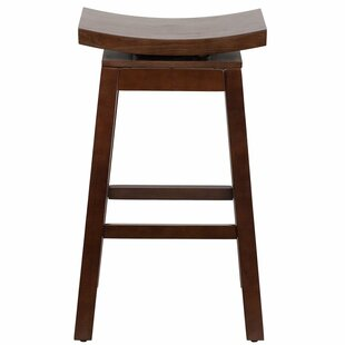 Willmar 30'' Saddle Swivel Bar Stool by Bloomsbury Market