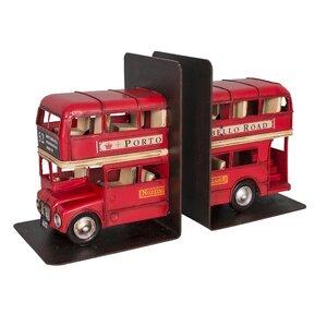2-tlg. Buchstützen-Set English Bus von Williston Forge