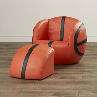 Carota Upholstered Kids Novelty Chair and Ottoman by Zoomie Kids