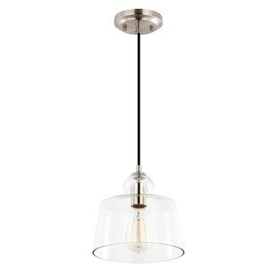 Gracie Oaks Barkett 1-Light Bell Pendant