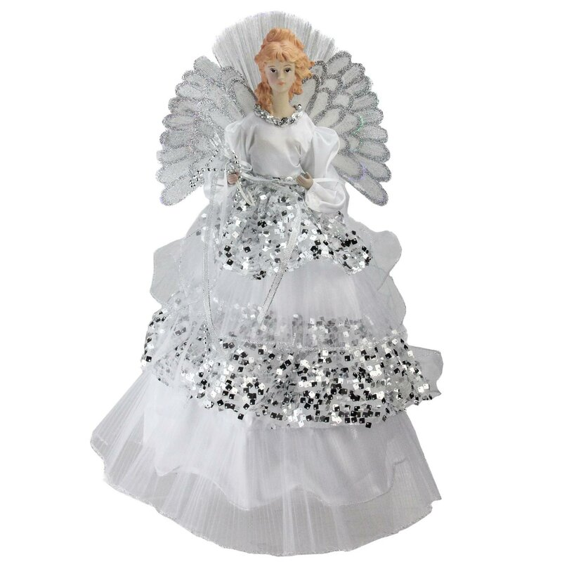 Angel Christmas Tree Topper.Angel Christmas Tree Topper In Sequined Gown