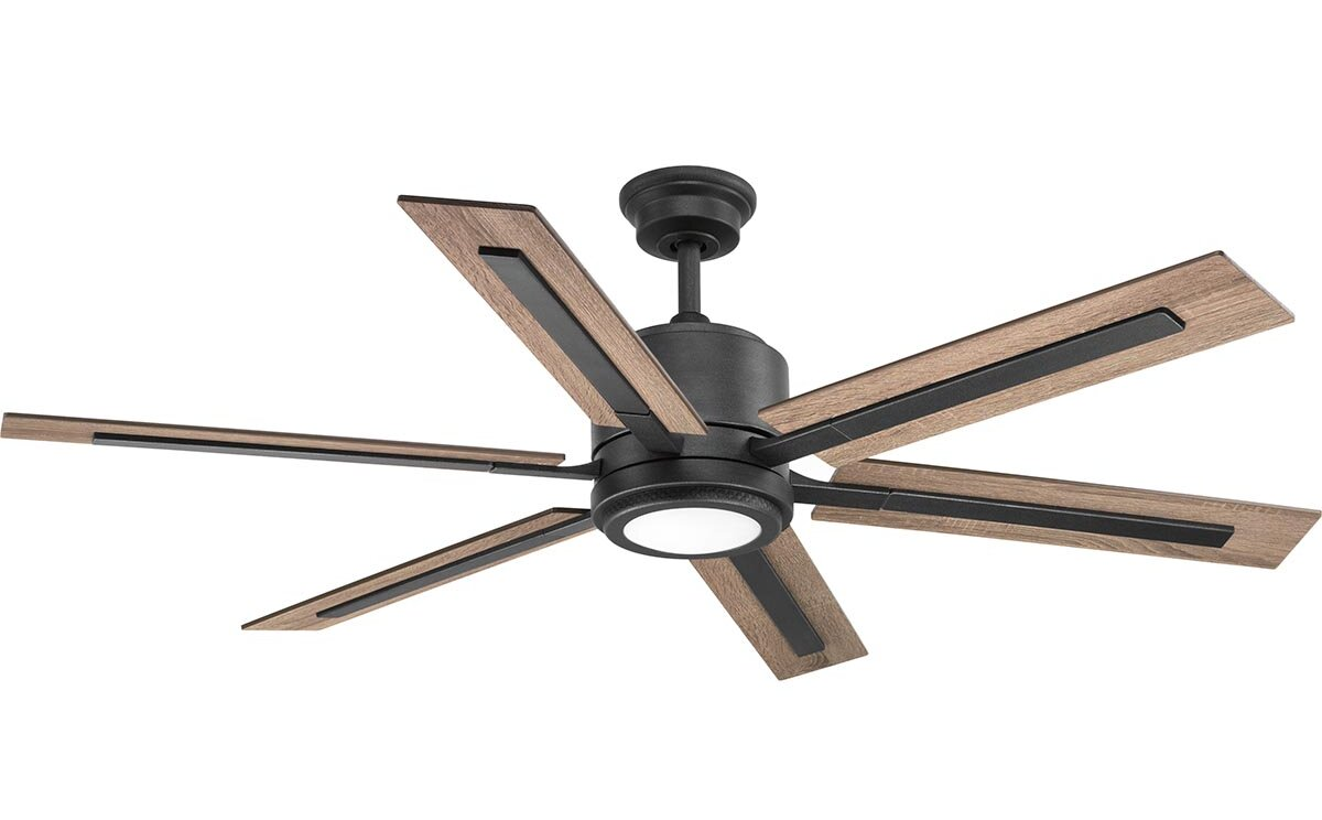Union rustic lesure 6 blade led ceiling fan with remote wayfair aloadofball Image collections
