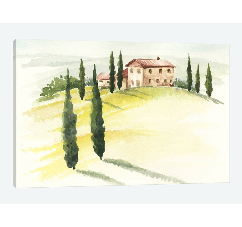 East Urban Home Tuscan Villa I Graphic Art Print On Canvas Wayfair