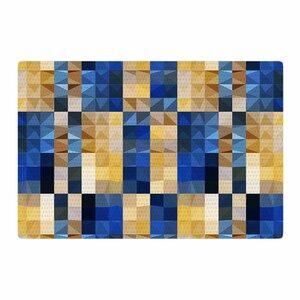 Dawid Roc New Stripes Mosaic Blue/Gold Area Rug