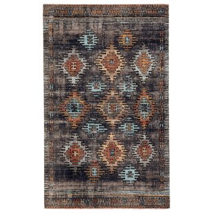 Vanburen Tribal Blue/Orange/Black Indoor/Outdoor Area Rug
