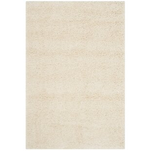 Compare prices Mckeehan Shag and Flokati Ivory Area Rug By Mercury Row