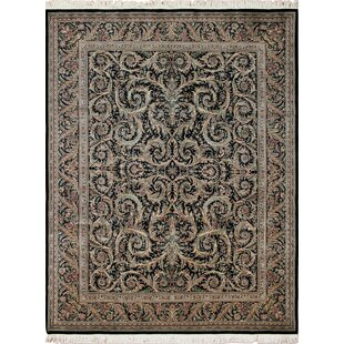 One-of-a-Kind Aikens Hand Knotted Wool Black Area Rug ByIsabelline