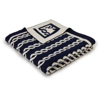 The Holiday Aisle Pabst Holiday Snowy Winter Cottage Tapestry Throw