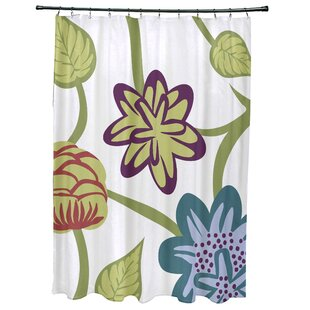Anurima Tropical Floral Print Single Shower Curtain by Red Barrel Studio Best Design
