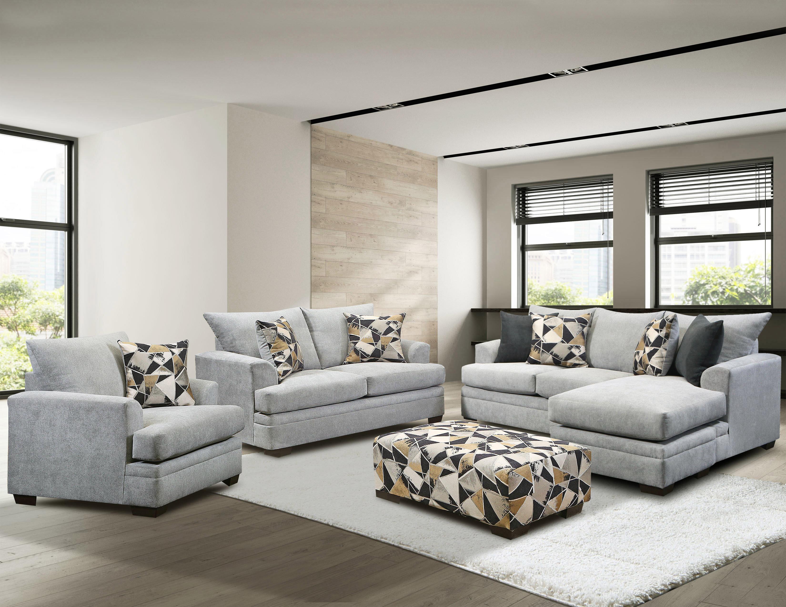 Latitude Run Alixandrea 3 Piece Standard Living Room Set Wayfair