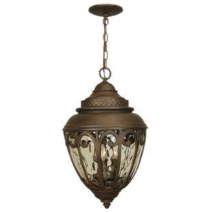 Charlton Home Oakhill Aged Bronze 3-Light Outdoor Hanging Lantern