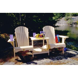 Emme Wooden Tete-a-Tete Bench by Millwood Pines