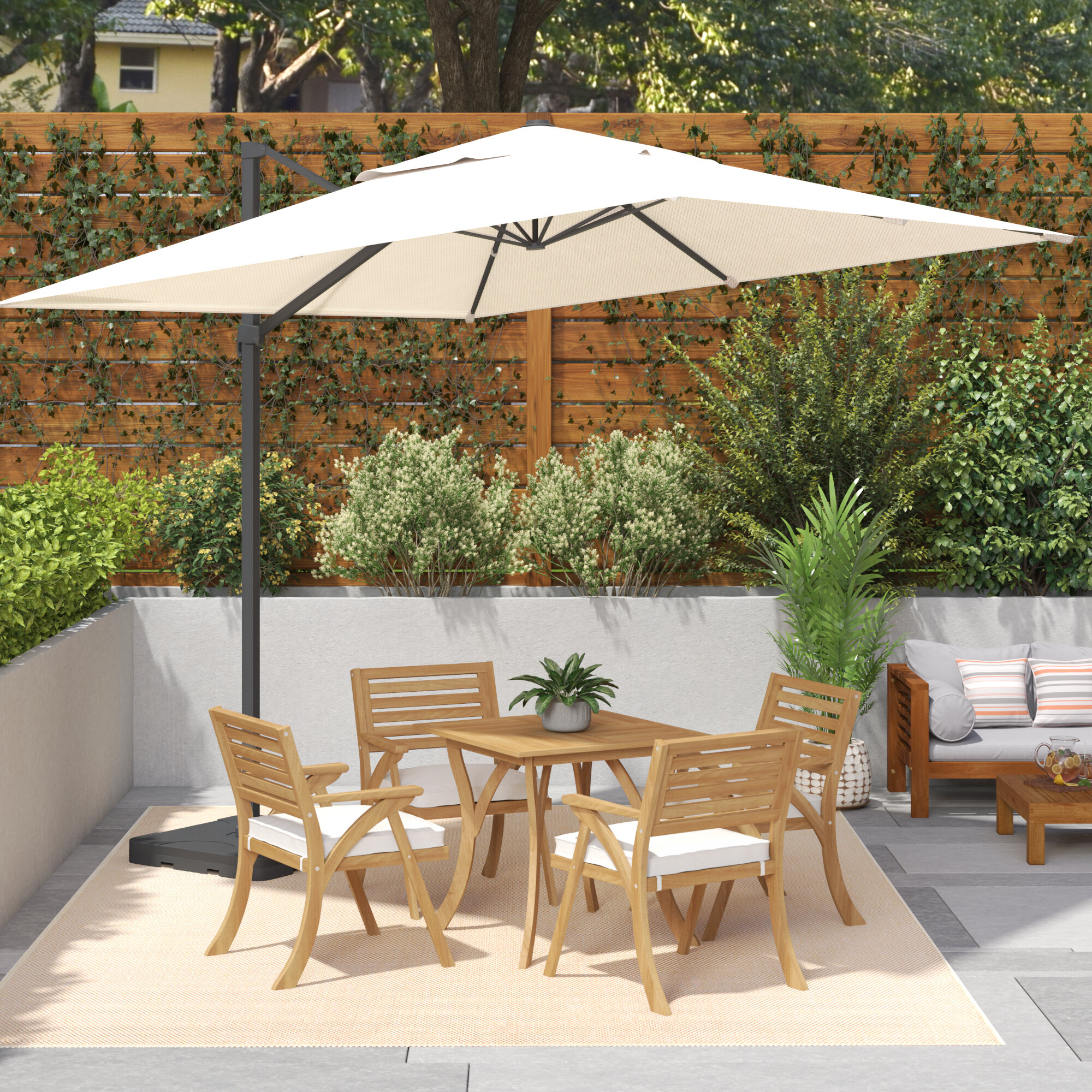 popular of awesome wall beautiful mounted with umbrella outdoor set chairs patio