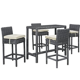 Keiran 5 Piece Bar Height Dining Set with Cushion