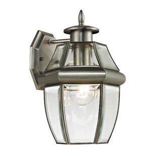 Reviews Ashford 1-Light Outdoor Wall Lantern By Cornerstone Lighting