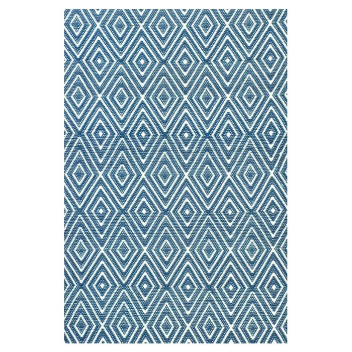 Dash and Albert Rugs Hand Woven Blue Indoor/Outdoor Area Rug ...