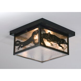 Meyda Tiffany Tropical Creatures 2-Light Flush Mount