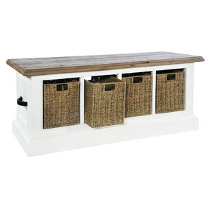 Bellemoor Cove Wood Storage Bench By Breakwater Bay