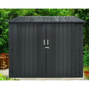 6 Ft. 9 In. W X 6 Ft. 8 In. D Metal Horizontal Bike Shed By Hanover