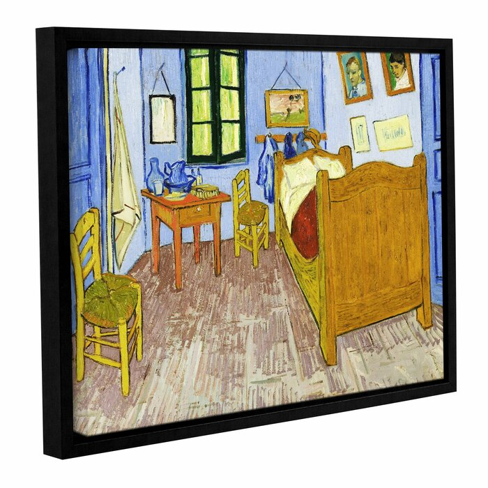 The Bedroom By Vincent Van Gogh Framed Painting Print On Wrapped Canvas