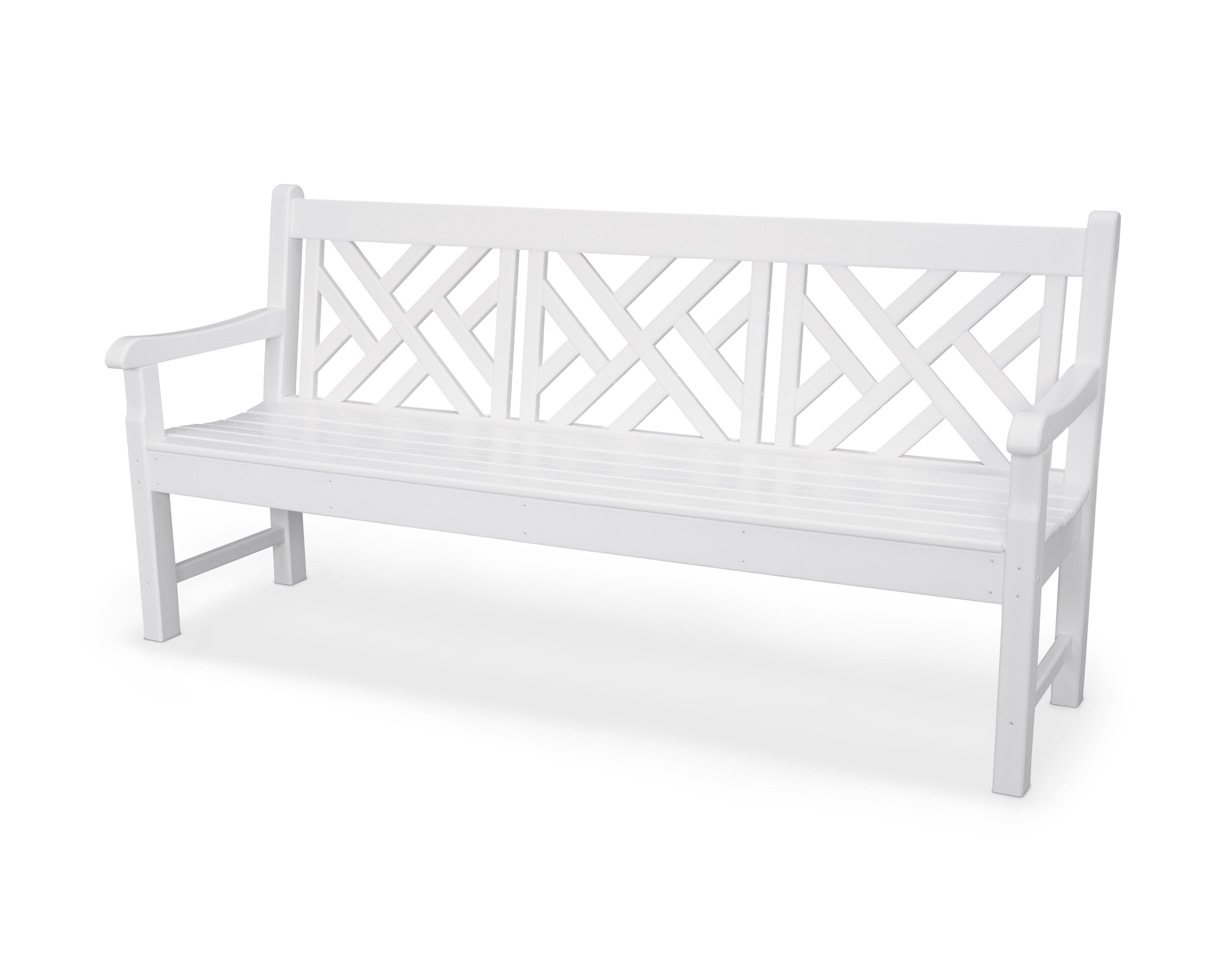 Astonishing Polywood Rockford Chippendale Plastic Garden Bench Pabps2019 Chair Design Images Pabps2019Com