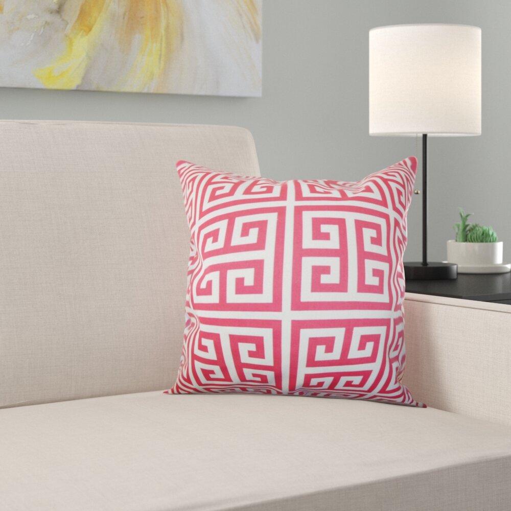 1a767e302f5 The Pillow Collection Paros Greek Key 100% Cotton Cushion Cover ...