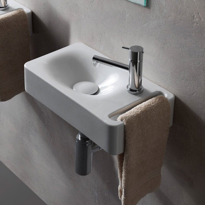 Scarabeo By Nameeks Hung Ceramic 16 Wall Mount Bathroom Sink Reviews Wayfair
