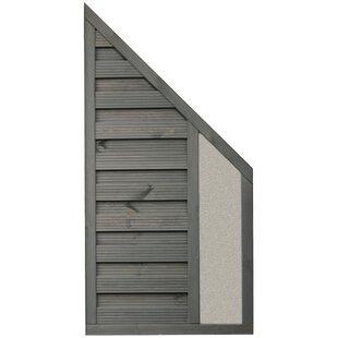 Kiowa 3' x 6' (0.9m x 1.8m) Horizontal Weave Fence Panel (Set of 3) by Lynton Garden