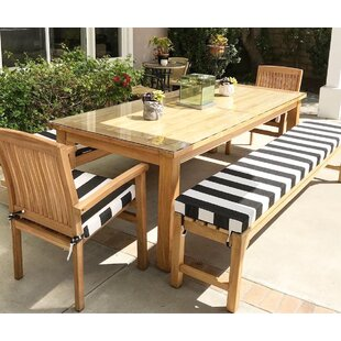 Jamari 5 Piece Teak Sunbrella Dining set with Cushions