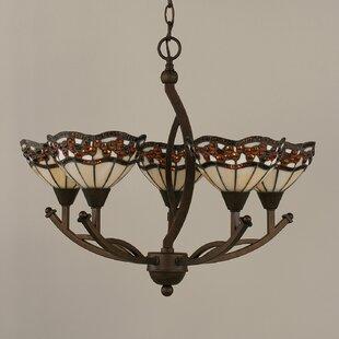 Austinburg 5-Light Shaded Chandelier by Astoria Grand
