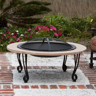 Fire Sense Steel Wood Burning Fire Pit Table