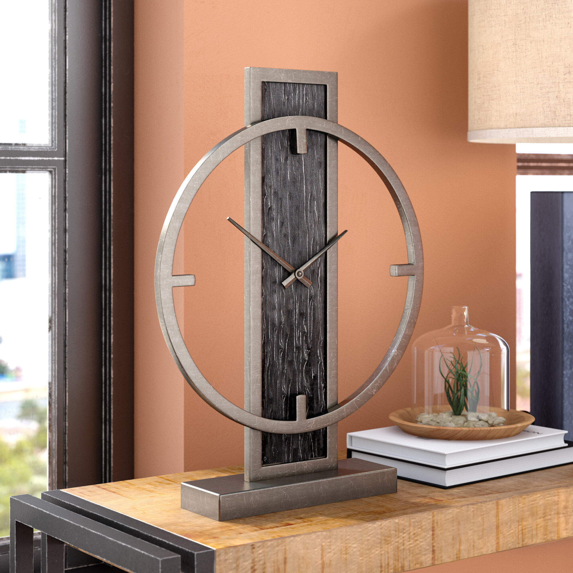 Trent Austin Design Modern Analog Wood Desk Clock