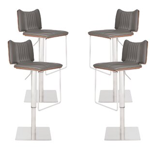 Darwen Adjustable Height Swivel Bar Stool (Set of 4) by Brayden Studio
