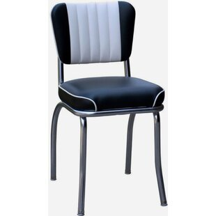 Retro Home Side Chair with Two Toned Channel Back